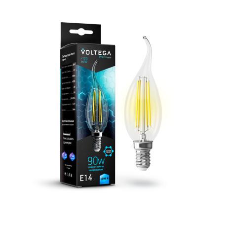 Филаментная светодиодная лампа Voltega Crystal 7133 свеча на ветру E14 6,5W, 4000K 220V, гарантия 3 года