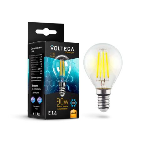 Филаментная светодиодная лампа Voltega Crystal 7136 шар малый E14 6,5W, 2800K (теплый) 220V, гарантия 3 года