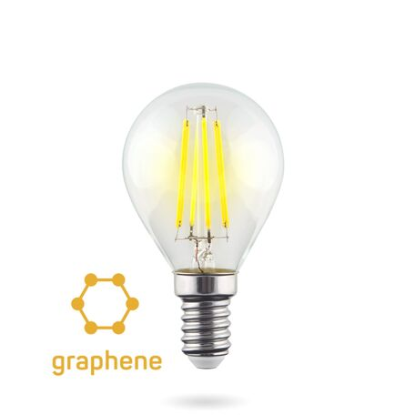 Филаментная светодиодная лампа Voltega Crystal 7136 шар E14 6,5W, 2800K (теплый) 220V, гарантия 3 года