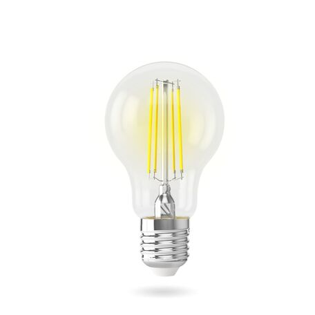 Филаментная светодиодная лампа Voltega Crystal 7140 груша E27 7W, 2800K (теплый) 220V, гарантия 3 года