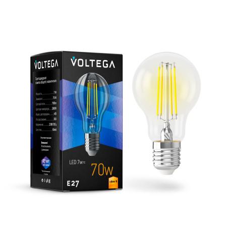 Филаментная светодиодная лампа Voltega Crystal 7140 груша E27 7W, 2800K (теплый) 220V, гарантия 3 года - миниатюра 2