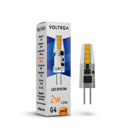 Светодиодная лампа Voltega Simple 7142 капсульная G4 2W, 2800K (теплый) 220V, гарантия 2 года
