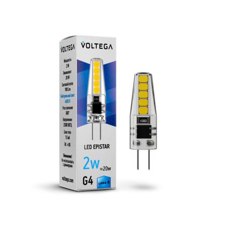 Светодиодная лампа Voltega Simple 7145 капсульная G4 2W, 4000K (дневной) 220V, гарантия 2 года