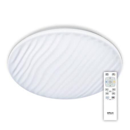Потолочный светодиодный светильник с пультом ДУ Citilux Дюна LED CL72060RC, IP43, LED 60W 3000-4500K + RGB 3900lm, белый, металл, пластик