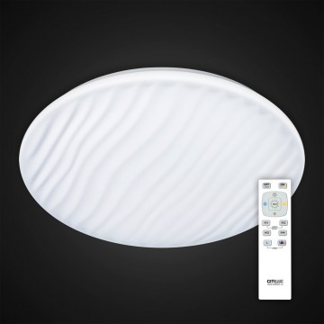 Потолочный светодиодный светильник с пультом ДУ Citilux Дюна LED CL72060RC, IP43, LED 60W 3000-4500K + RGB 3900lm, белый, металл, пластик - миниатюра 2