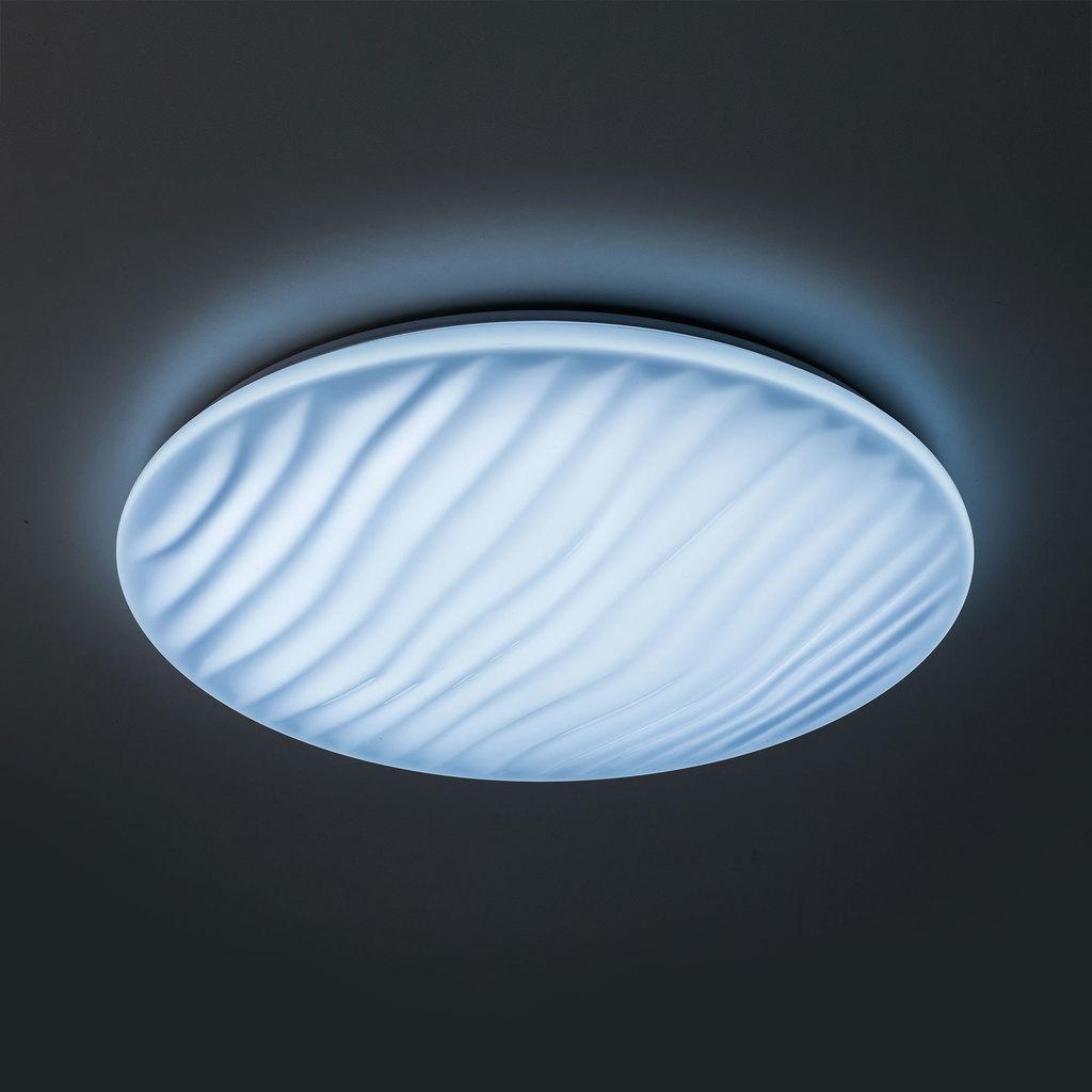 Потолочный светодиодный светильник с пультом ДУ Citilux Дюна LED CL72060RC, IP43, LED 60W 3000-4500K + RGB 3900lm, белый, металл, пластик - фото 4