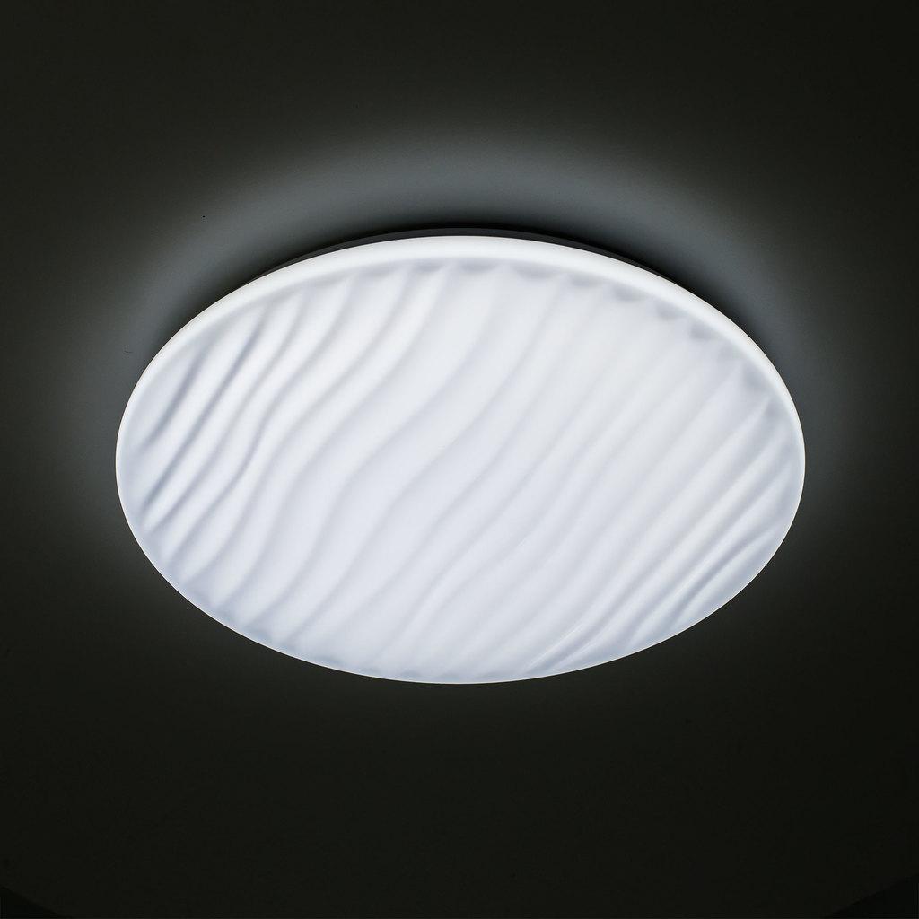 Потолочный светодиодный светильник с пультом ДУ Citilux Дюна LED CL72060RC, IP43, LED 60W 3000-4500K + RGB 3900lm, белый, металл, пластик - фото 8