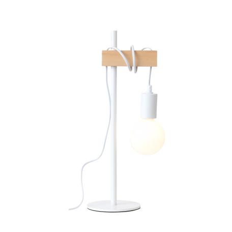 Настольная лампа Evoluce Bagetti SL1142.504.01, 1xE27x60W, белый, коричневый, металл, дерево