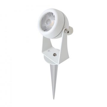 Светодиодный прожектор с колышком ST Luce Pedana SL098.505.01, IP65, LED 8W 4000K, белый, металл
