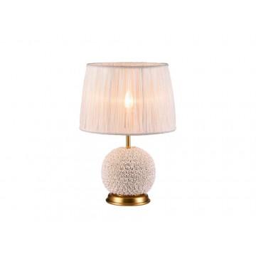 Настольная лампа Newport 34001/T (М0049622), 1xE14x60W, матовое золото, бежевый, керамика, текстиль