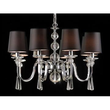 Основание подвесной люстры Newport 31808/C без абажуров (М0047123), 8xE14x60W, хром, прозрачный, металл со стеклом, хрусталь