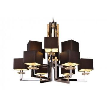 Основание подвесной люстры Newport 3206+6/C без абажуров (М0044227), 12xE14x60W, хром, металл со стеклом