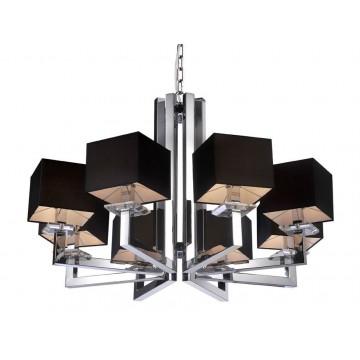 Основание подвесной люстры Newport 3200 3208+1/C без абажуров (М0047019), 8xE14x60W, прозрачный, хром, металл, стекло
