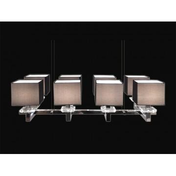 Основание подвесной люстры Newport 3208/S без абажуров (М0044228), 8xE14x60W, хром, металл со стеклом