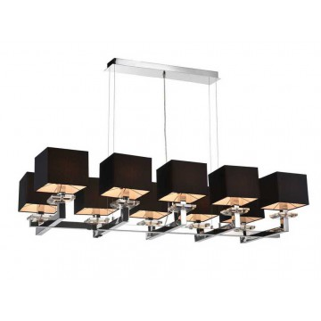 Основание подвесной люстры Newport 3210/S без абажуров (М0054129), 10xE14x60W, хром, металл со стеклом