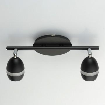 Потолочный светодиодный светильник с регулировкой направления света De Markt Этингер 704022902, LED 8W 3000K (теплый), хром, черный, матовый, металл, пластик