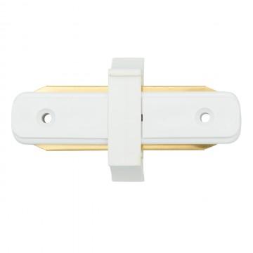 Внутренний прямой соединитель для шинопровода De Markt CON 2I WT, белый, металл, пластик