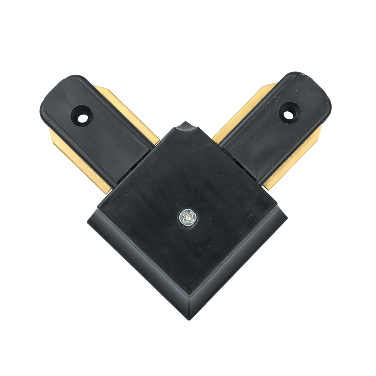 L-образный соединитель для шинопровода De Markt CON 2L BL, черный, металл, пластик - фото 1