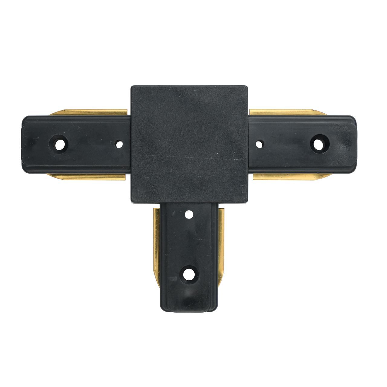 T-образный соединитель для шинопровода De Markt CON 2T BL, черный, металл, пластик - фото 1