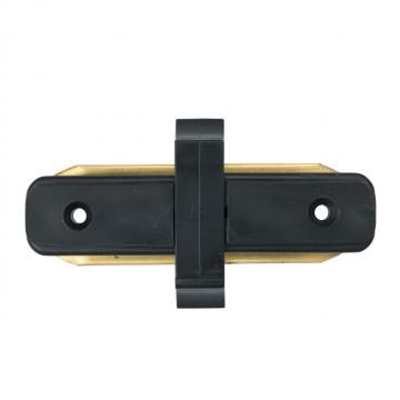Внутренний прямой соединитель для шинопровода De Markt CON 2I BL, черный, металл, пластик