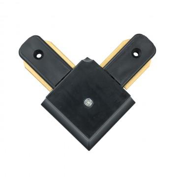 L-образный соединитель для шинопровода De Markt CON 2L BL, черный, металл, пластик