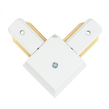 L-образный соединитель для шинопровода De Markt CON 2L WT, белый, металл, пластик