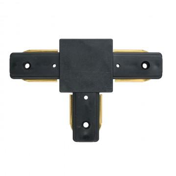 T-образный соединитель для шинопровода De Markt CON 2T BL, черный, металл, пластик