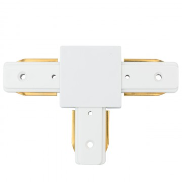 T-образный соединитель для шинопровода De Markt CON 2T WT, белый, металл, пластик