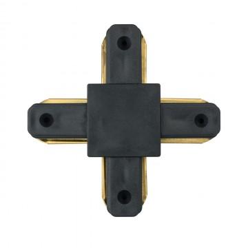 X-образный соединитель для шинопровода De Markt CON 2X BL, черный, металл, пластик