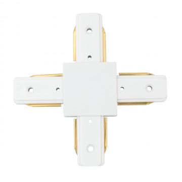 X-образный соединитель для шинопровода De Markt CON 2X WT, белый, металл, пластик