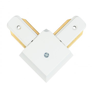 L-образный соединитель для шинопровода De Markt CON 2L WT, белый, пластик