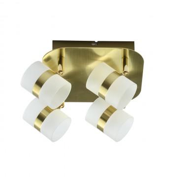 Потолочная светодиодная люстра с регулировкой направления света De Markt Этингер 704010704, LED 10W 3000K, матовое золото, металл, пластик