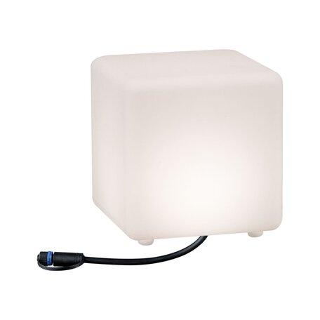 Садовый светодиодный светильник Paulmann Plug & Shine Cube 94180, IP67, LED 2,8W, белый, пластик