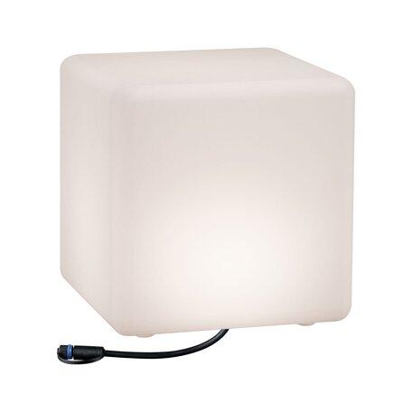 Садовый светодиодный светильник Paulmann Plug & Shine Cube 94181, IP67, LED 6,5W, белый, пластик