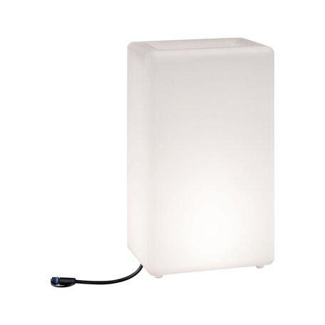 Садовый светодиодный светильник Paulmann Plug & Shine Plant Pot 94183, IP67, LED 6,5W, белый, пластик