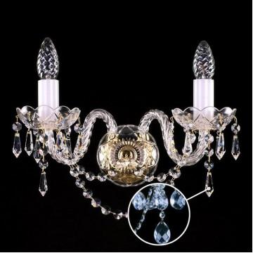 Бра Artglass MIRKA II. BALLS SP, 2xE14x40W, стекло, кристаллы SPECTRA Swarovski