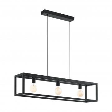 Подвесной светильник Eglo Trend & Vintage Industrial Elswick 49564, 3xE27x60W, черный, металл