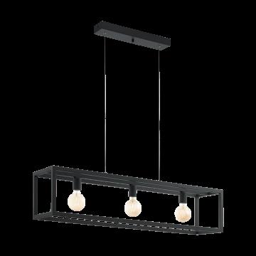 Подвесной светильник Eglo Elswick 49564, 3xE27x60W, черный, металл