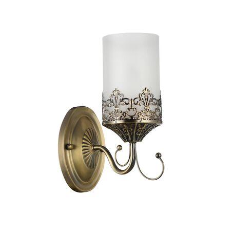 Бра Freya Sherborne FR2563-WL-01-BZ (arm563-01-r), 1xE14x60W, бронза, белый, металл, стекло - миниатюра 1