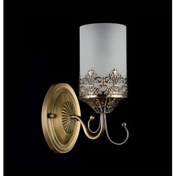 Бра Freya Sherborne FR2563-WL-01-BZ (arm563-01-r), 1xE14x60W, бронза, белый, металл, стекло - миниатюра 2