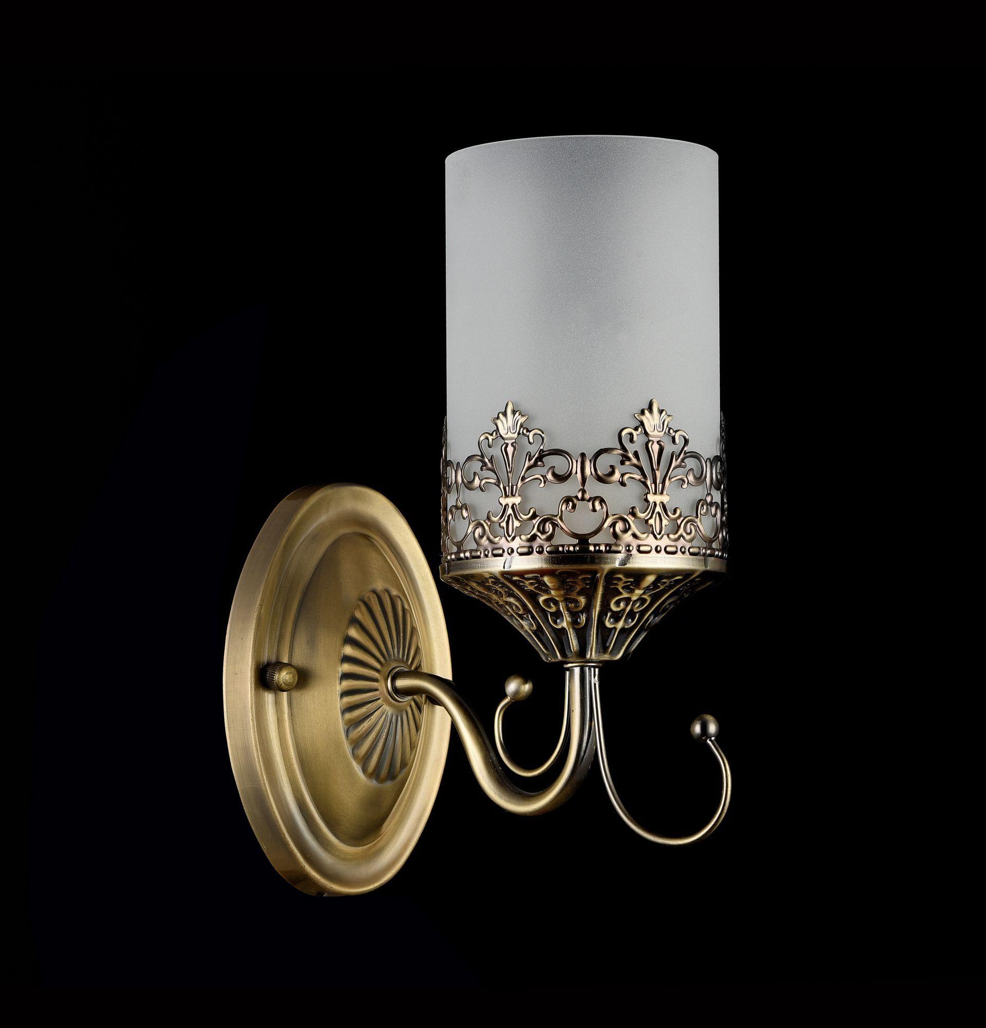 Бра Freya Sherborne FR2563-WL-01-BZ (arm563-01-r), 1xE14x60W, бронза, белый, металл, стекло - фото 2