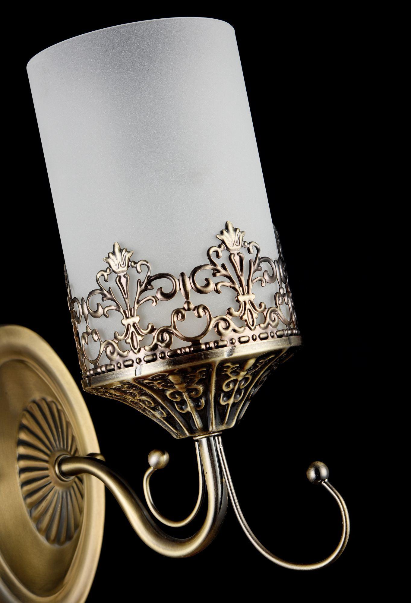 Бра Freya Sherborne FR2563-WL-01-BZ (arm563-01-r), 1xE14x60W, бронза, белый, металл, стекло - фото 4