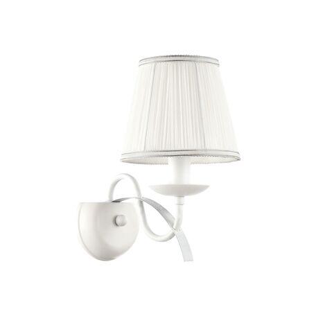 Бра Freya Diana FR5569-WL-01-W (fr569-01-w), 1xE14x40W, белый, серебро, металл, текстиль - миниатюра 1