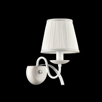 Бра Freya Diana FR5569-WL-01-W (fr569-01-w), 1xE14x40W, белый, серебро, металл, текстиль - миниатюра 3