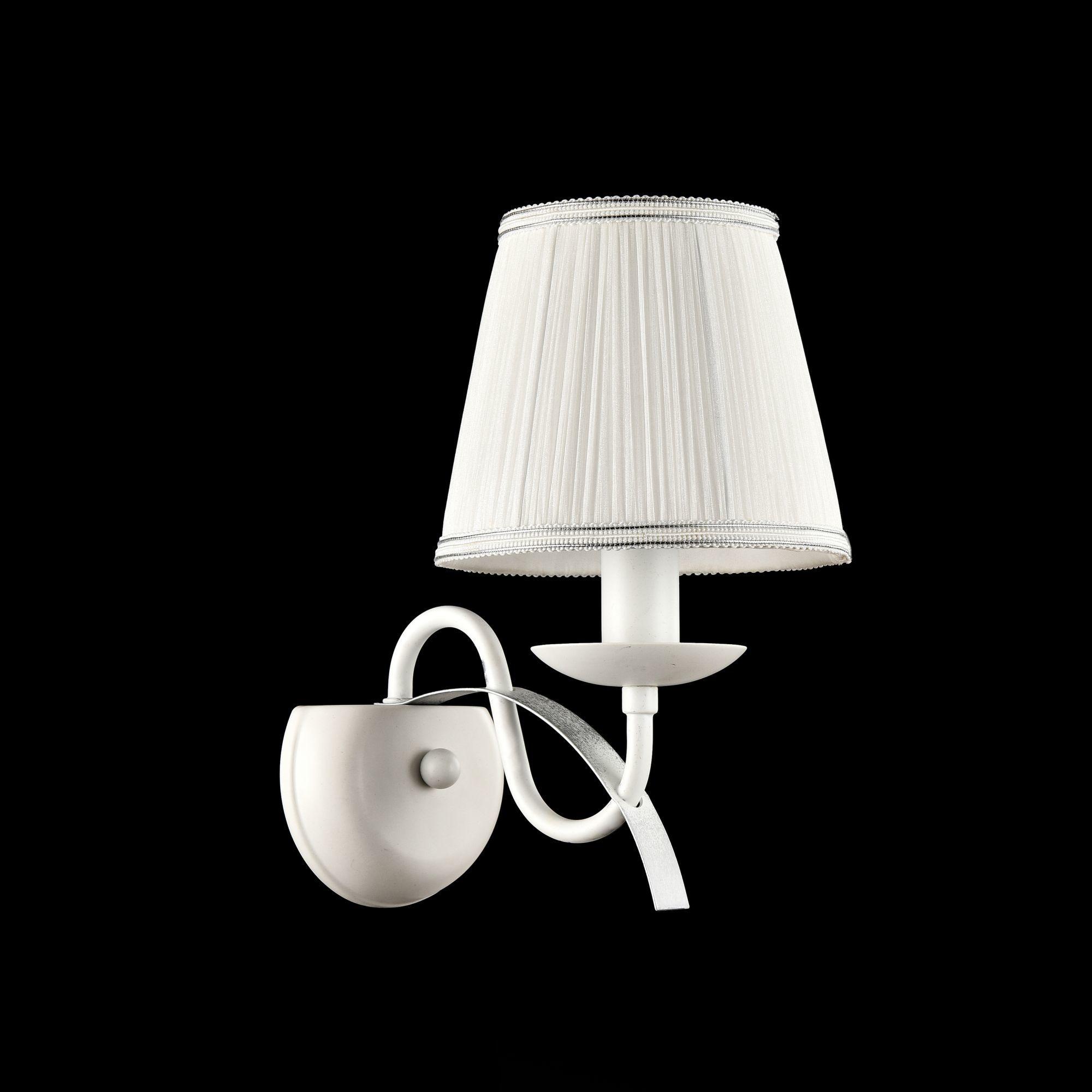 Бра Freya Diana FR5569-WL-01-W (fr569-01-w), 1xE14x40W, белый, серебро, металл, текстиль - фото 3