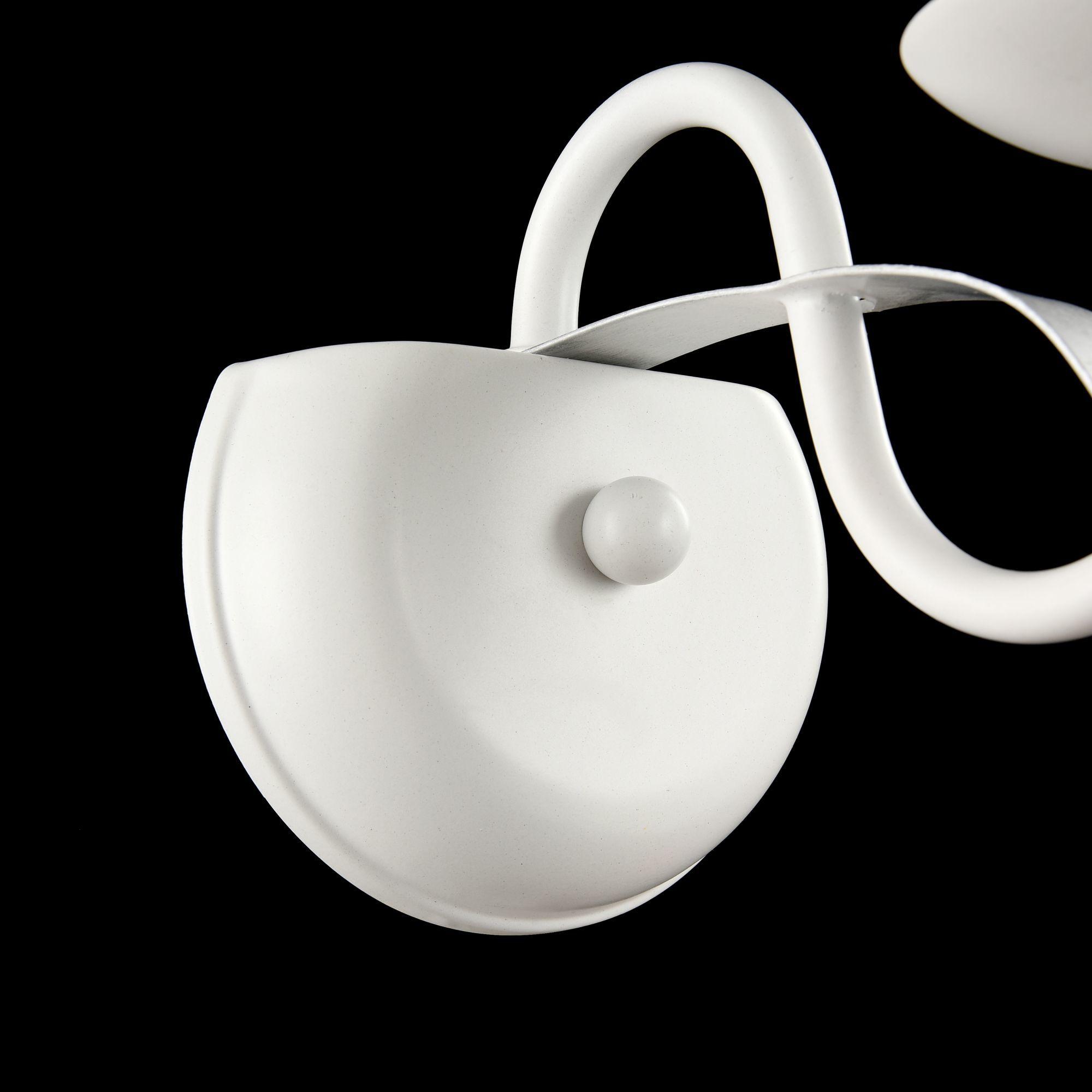 Бра Freya Diana FR5569-WL-01-W (fr569-01-w), 1xE14x40W, белый, серебро, металл, текстиль - фото 4