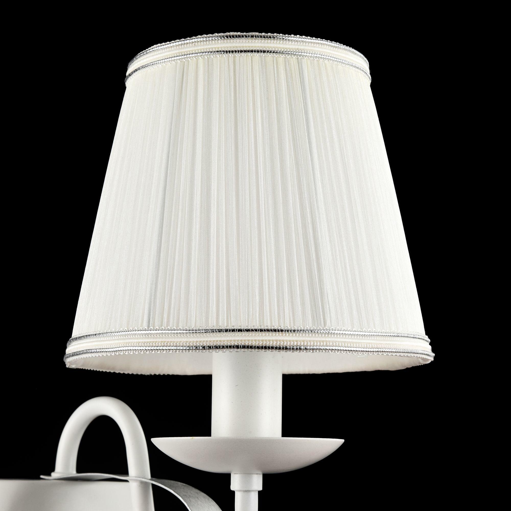 Бра Freya Diana FR5569-WL-01-W (fr569-01-w), 1xE14x40W, белый, серебро, металл, текстиль - фото 5