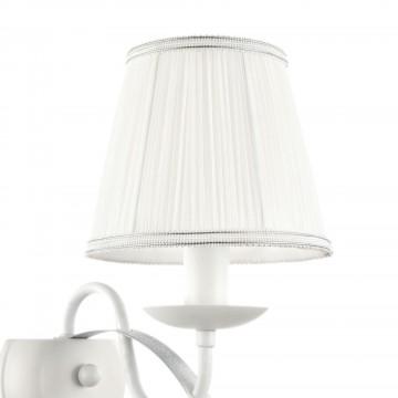 Бра Freya Diana FR5569-WL-01-W (fr569-01-w), 1xE14x40W, белый, серебро, металл, текстиль - миниатюра 7