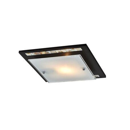 Потолочный светильник Freya Simmetria FR4810-CL-01-BR (cl810-01-r), 1xE27x60W, венге, белый, дерево, стекло