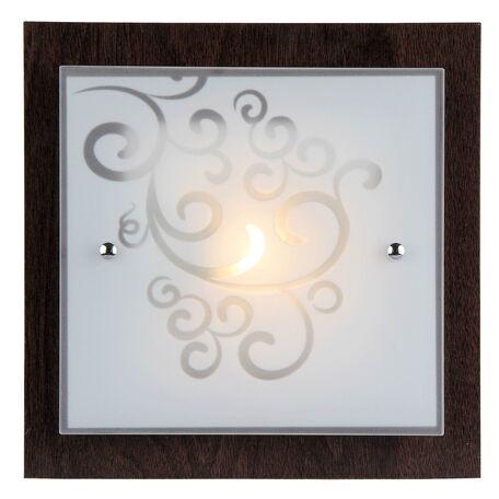 Потолочный светильник Freya Constanta FR4811-CL-01-BR (cl811-01-r), 1xE27x60W, коричневый, белый, металл, стекло